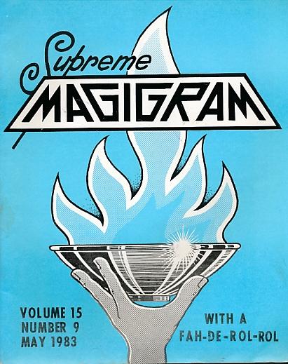 DE COURCY, KEN [ED.] - The Magigram. Volume 15 No. 9. May 1983