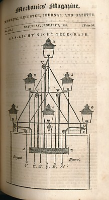 EDITOR - Mechanics Magazine: Museum, Register, Journal, & Gazette. Volume 5. Issues 113 -140. October 1825 - April 1826