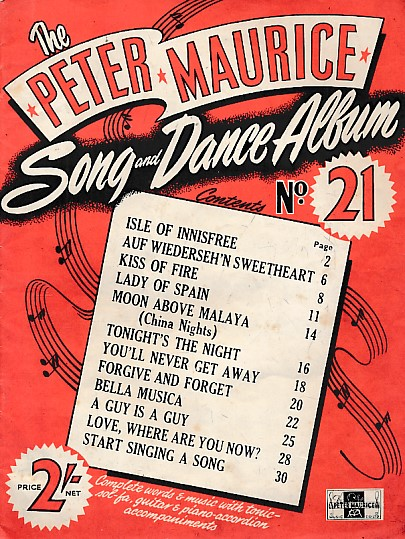 PETER MAURICE MUSIC - The Peter Maurice Song and Dance Album. No 21