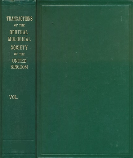 NEAME, HUMPHREY; BLACK, GEORGE; &C - Transactions of the Ophthalmological Society of the United Kingdom. Volume LXVII (67). Session 1947
