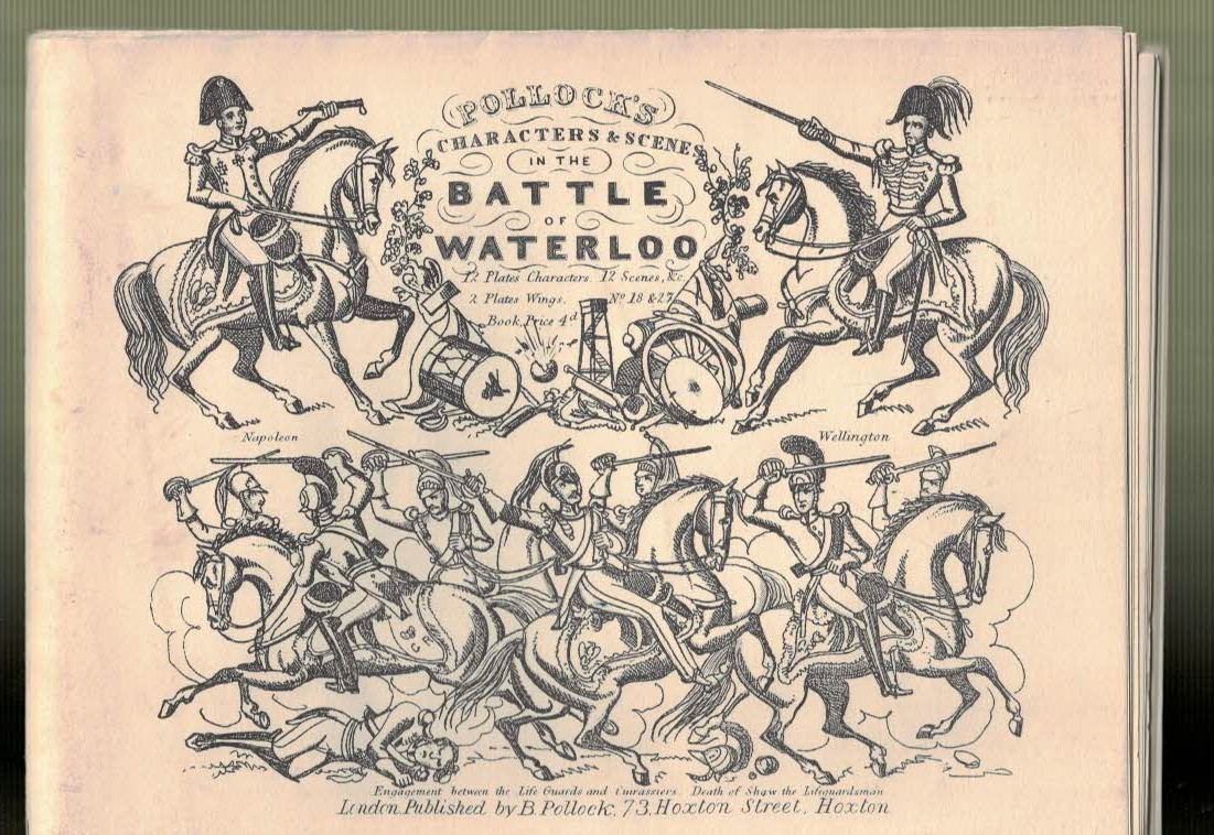 [POLLOCK'S TOY THEATRES] - Characters & Scenes in the Battle of Waterloo, or, the Countess Phedora's Curse... With Booklet