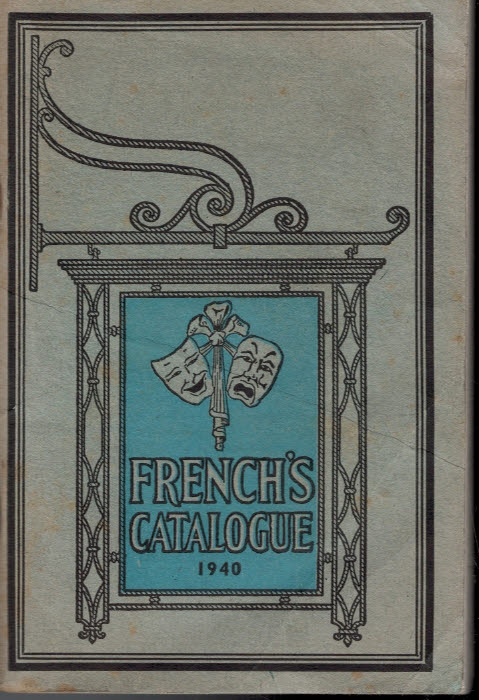 SAMUEL FRENCH LTD - French's Catalogue 1940