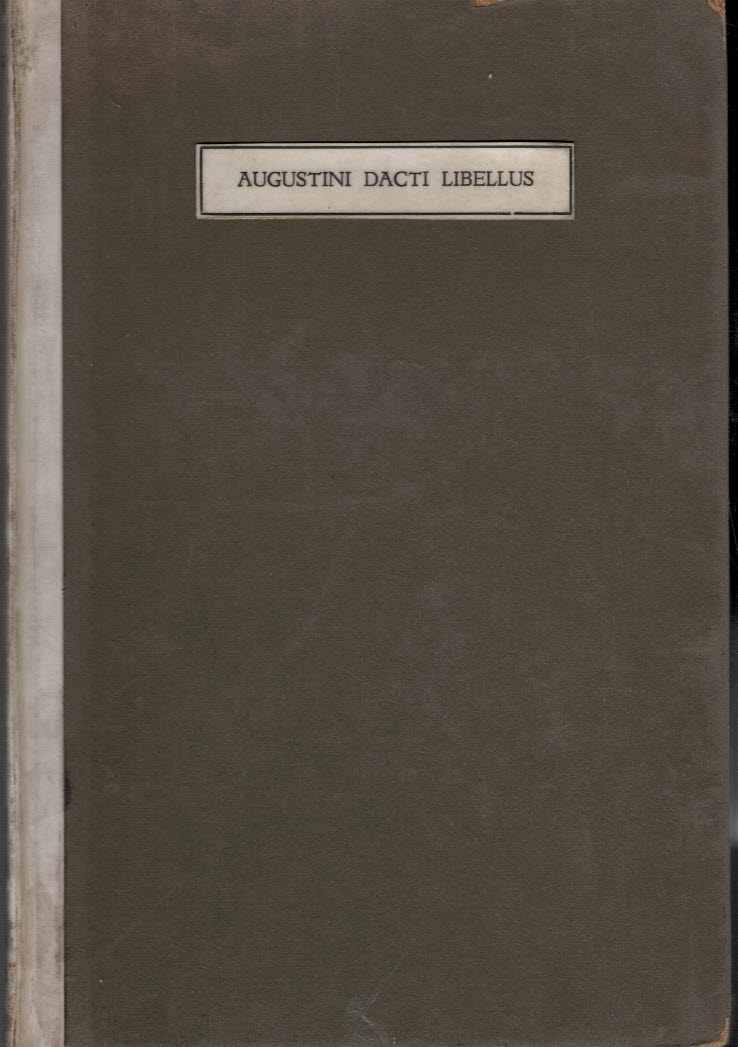 [SCHOOLMASTER PRINTER OF ST ALBANS] - Augustini Dacti Libellus