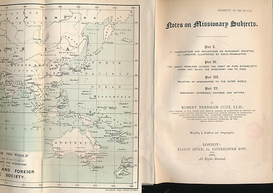 CUST, ROBERT NEEDHAM - Notes on Missionary Subjects. Parts I-IV Bound Together