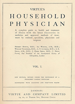 [VIRTUE AND COMPANY] - Virtue's Household Physician: 4 Volume Set