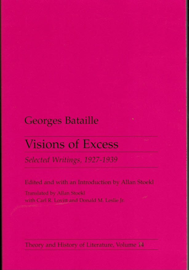 Visions of Excess: Selected Writings, 1927-1939 Cover art