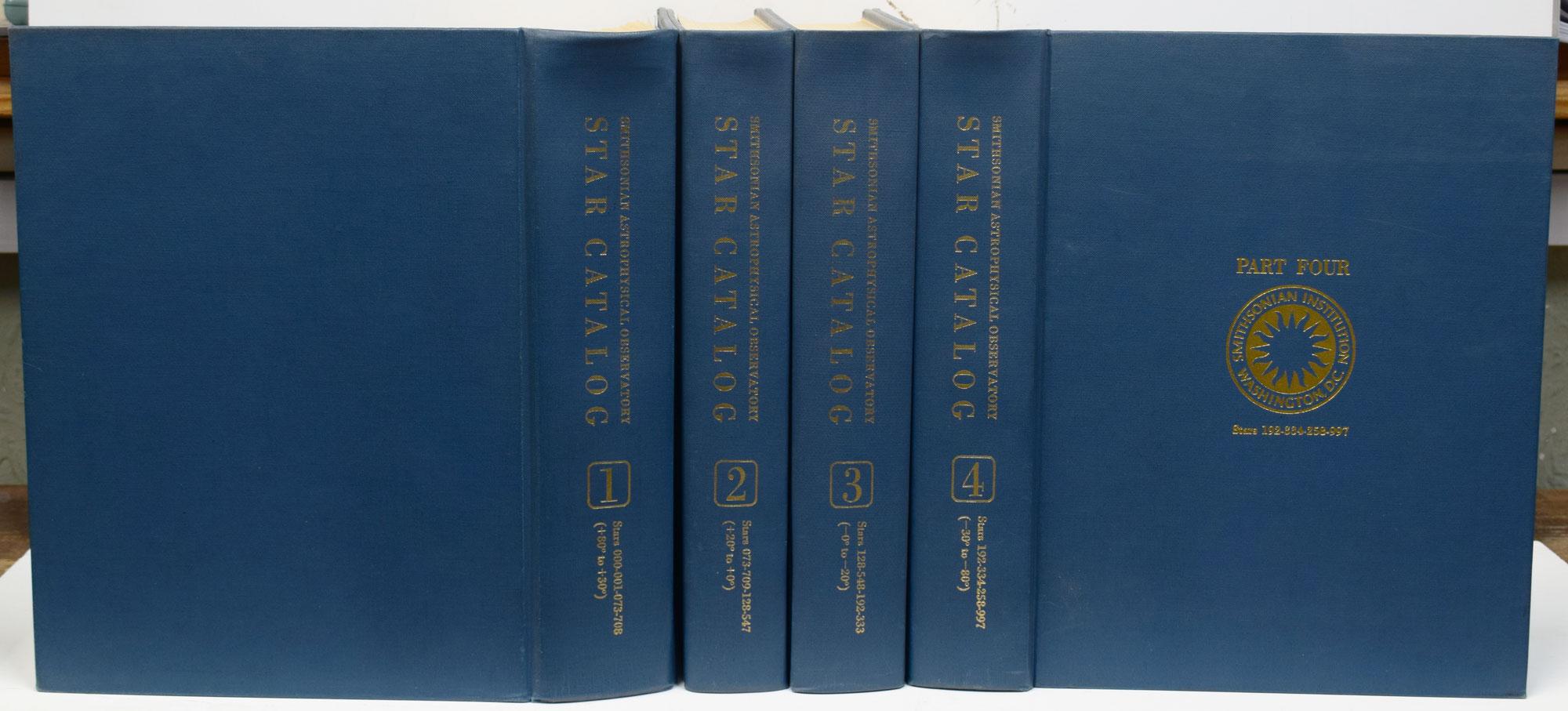[SMITHSONIAN STAFF] - Star Catalog : Smithsonian Astrophysical Observatory. 4 Volume Set