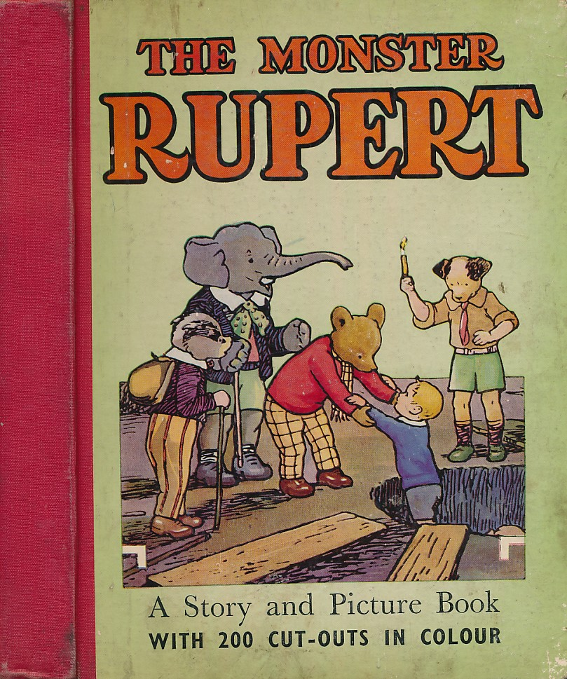 [TOURTEL, MARY] - The Monster Rupert - a Story and Picture Book with 200 Cut-Outs in Colour