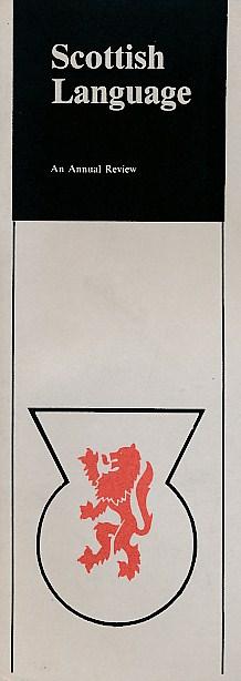 [SPEITEL, H H [ED.]] - Scottish Language. No 1. Autumn 1982