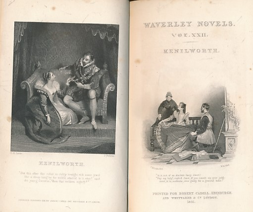 SCOTT, WALTER - Kenilworth, Part I. Cadell 1831 Waverley Novels, Volume XXII