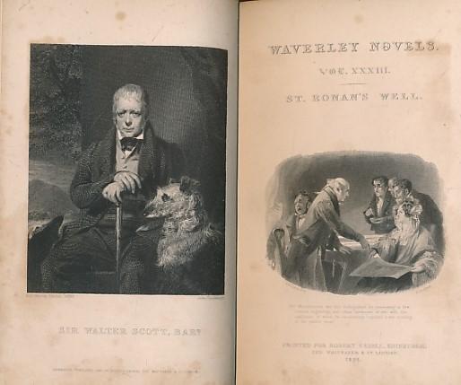 SCOTT, WALTER - St Ronan's Well Part I. Cadell 1832 Waverley Novels, Volume XXXIII