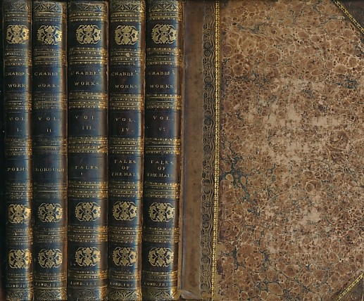 CRABBE, GEORGE - The Complete Works of George Crabbe, LL. B. 5 Volume Set