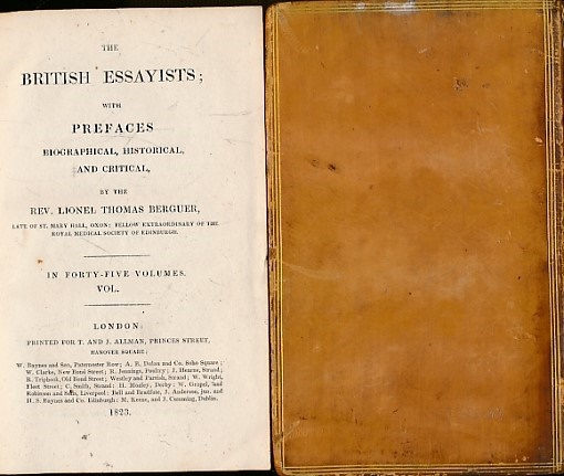 STEELE, RICHARD; ADDISON, JOSEPH; BERGUER, LIONEL THOMAS [ED.] - The Tatler [the British Essayists Volume II]. Issues 38 - 84. July - October 1709