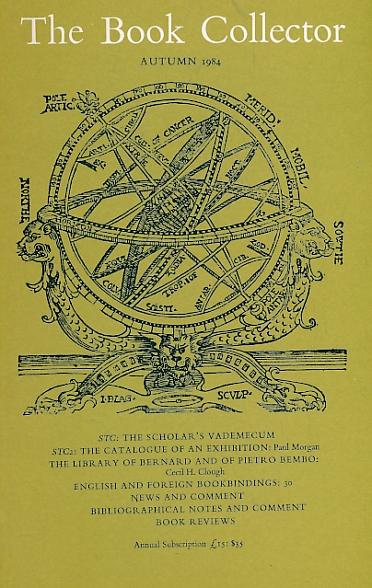 BARKER NICOLAS [ED.] - The Book Collector. Volume 33. No. 3. Autumn 1984
