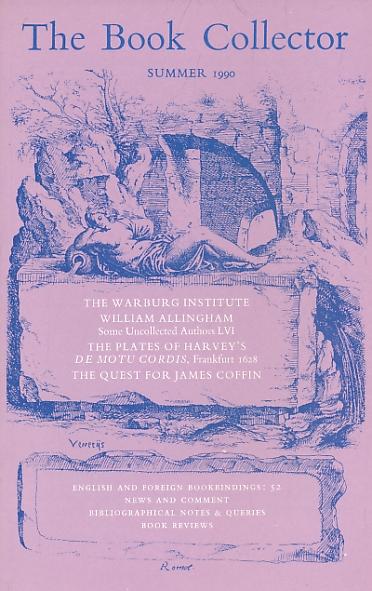 BARKER NICOLAS [ED.] - The Book Collector. Volume 39. No. 2. Summer 1990