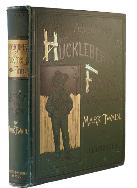 review on the adventures of huckleberry finn by samuel langhorne clemens Upon completion, the novel's title closely paralleled its predecessor's: adventures of huckleberry finn (tom sawyer's comrade) twain composed the story in pen on notepaper between 1876 and 1883 paul needham, stated, what you see is [clemens'] attempt to move away from pure literary writing to dialect writing.