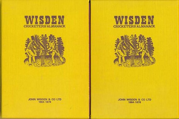 CROCKFORD, W H; KNIGHT, W H [EDS.] - Wisden Cricketers' Almanack 1864 -1878. 15 Volume Set. The First 15 Editions. Facsimile Reprints